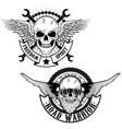 road warrior vector image vector image