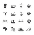 benefit of coffee flat design icons set for vector image