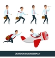 Business person walking to the success vector image