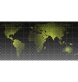 Earth city lights political map vector image