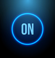 Neon Circle Button with Blue Light vector image