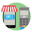 online payment and purchase icon app vector image