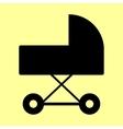 Pram sign Flat style icon vector image