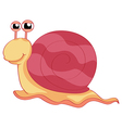 Smiling snail vector image vector image