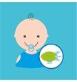 cartoon toy airship baby icon vector image