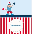 Young sailor with flags vector image