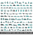 100 AND 20 Transport icon vector image vector image