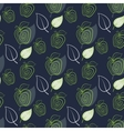 Seamless pattern with abstract fresh apple vector image