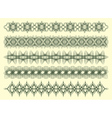 five decorative lines vector image