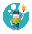 designer with a bulb vector image