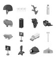 Army mine antiquity and other web icon in vector image