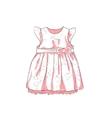Baby Dress Sketch vector image