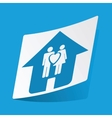 Family house sticker vector image