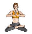 Lotus Yoga vector image