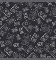 seamless background pattern hipster style with vector image