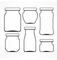 set of glass jars vector image