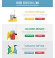 Set of horizontal web banners in flat style vector image