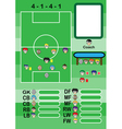 Soccer cartoon strategy Formation vector image