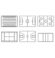 sport field vector image