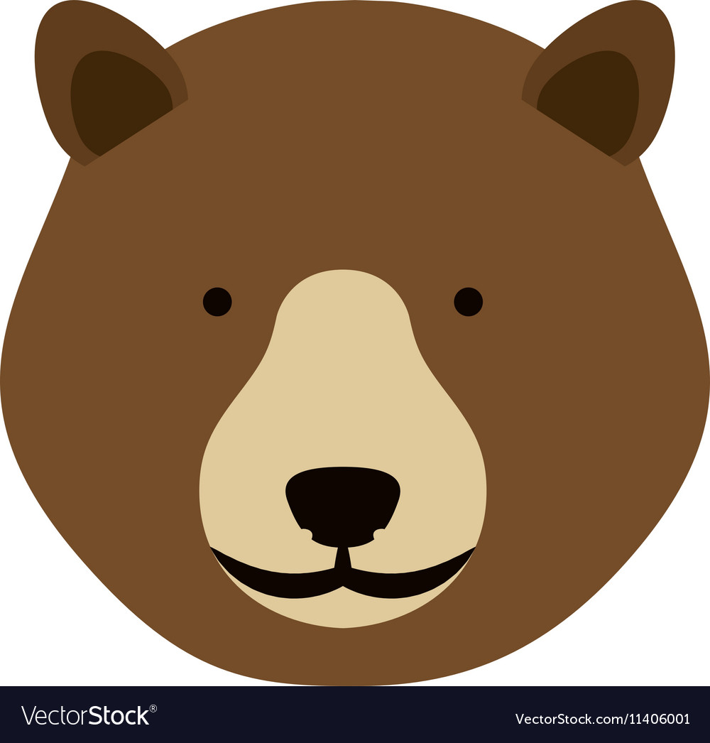 Bear face icon vector