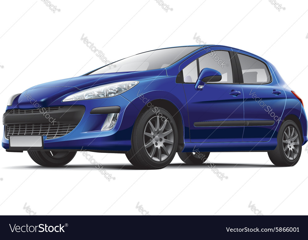 French small family car vector