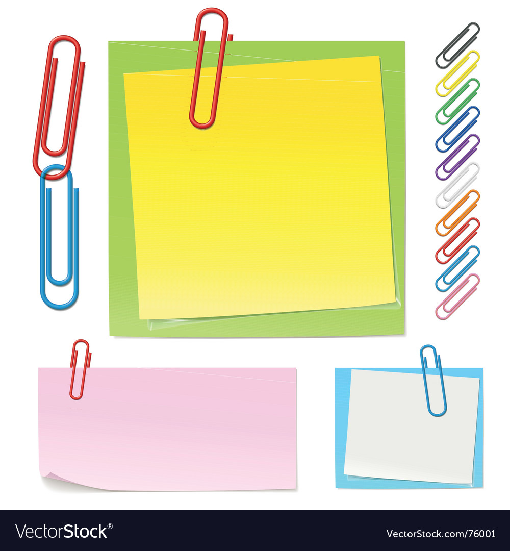 Paper clips icons vector