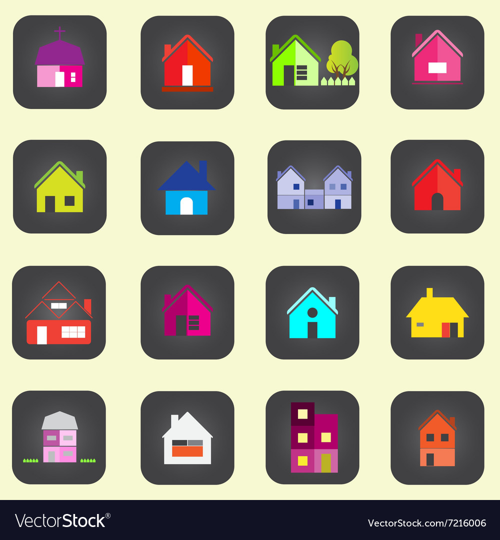 0308 house icon vector