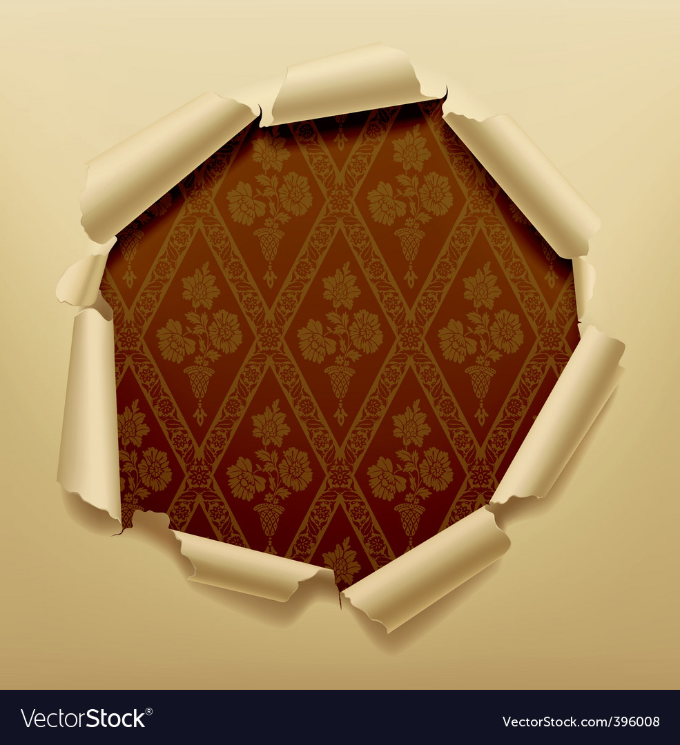 Torn paper hole vector