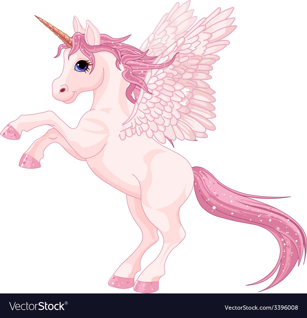 Unicorn pegasus vector