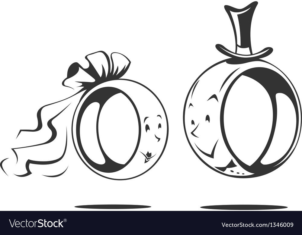 Bridegroom and bride wedding vector