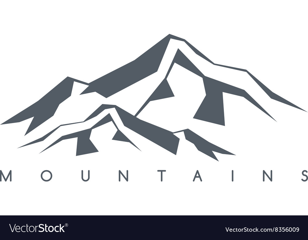 Mountain range theme vector