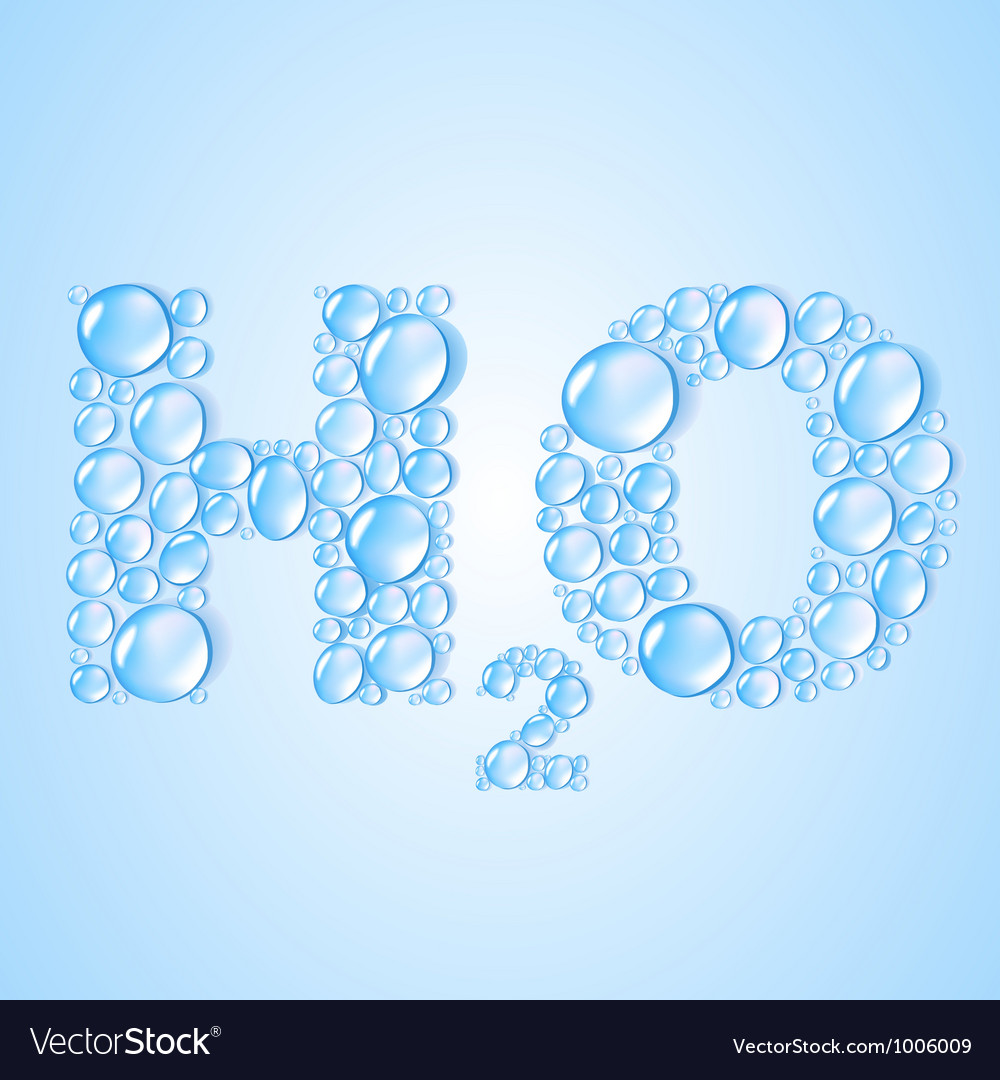 Water drops h2o shaped  background vector