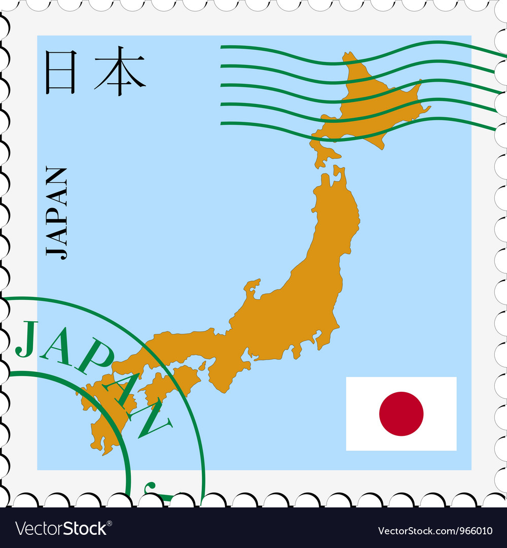 Mail tofrom japan vector