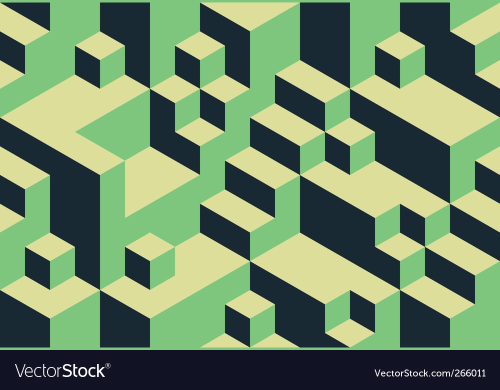 Cubic background vector