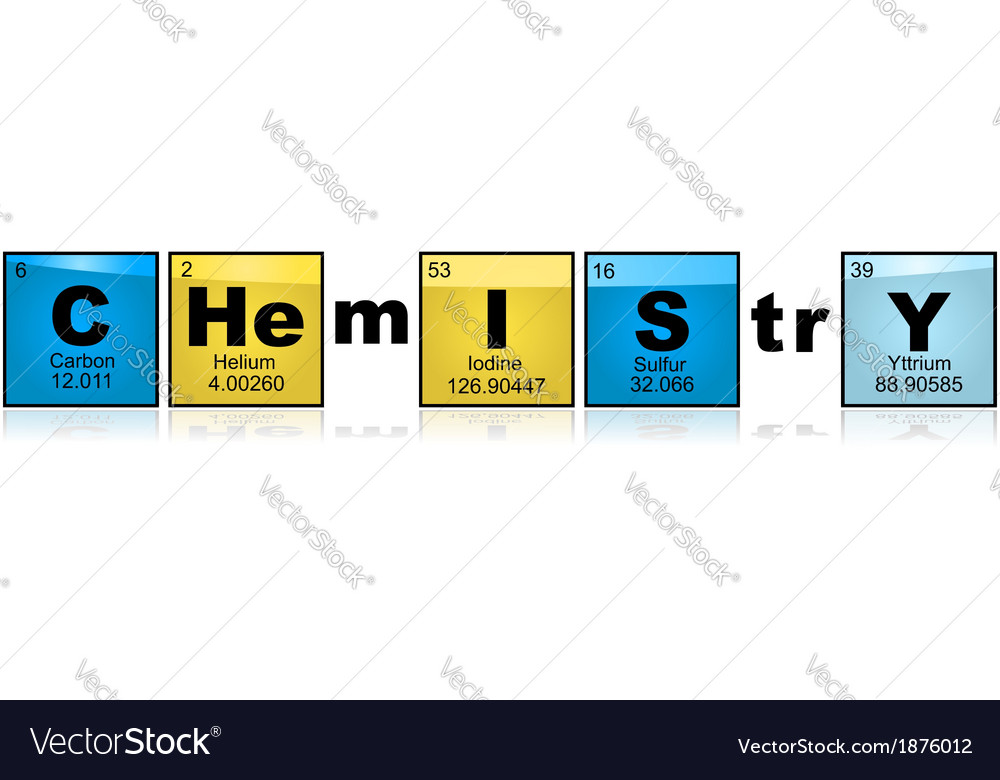 Chemistry with elements vector