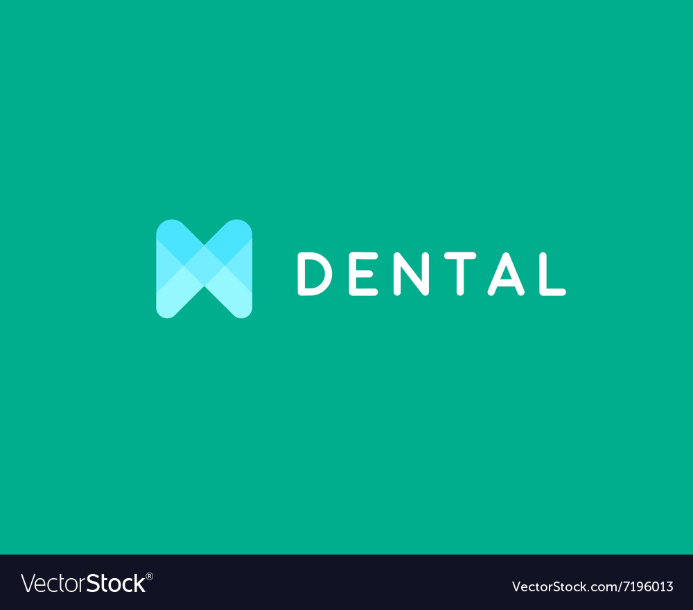 Dentist logo design template tooth creative vector