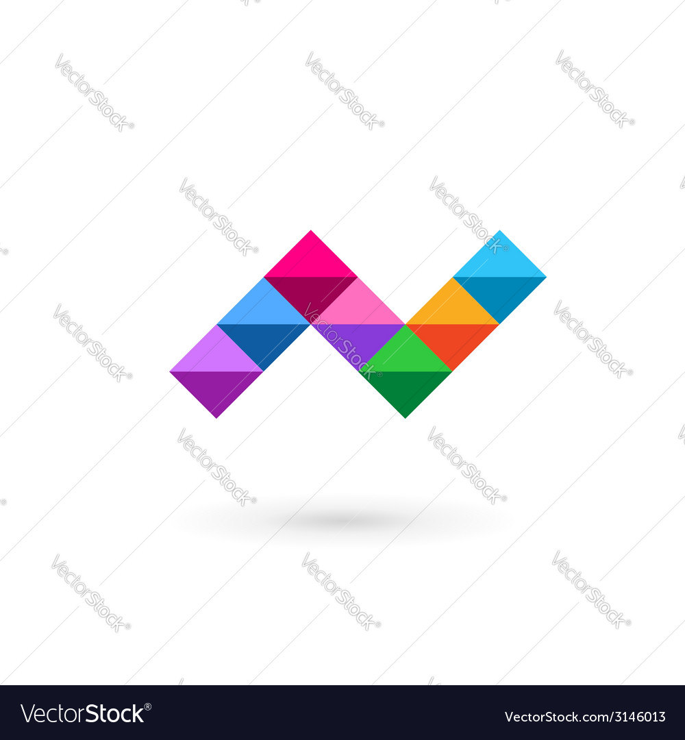 Letter n mosaic logo icon design template elements vector