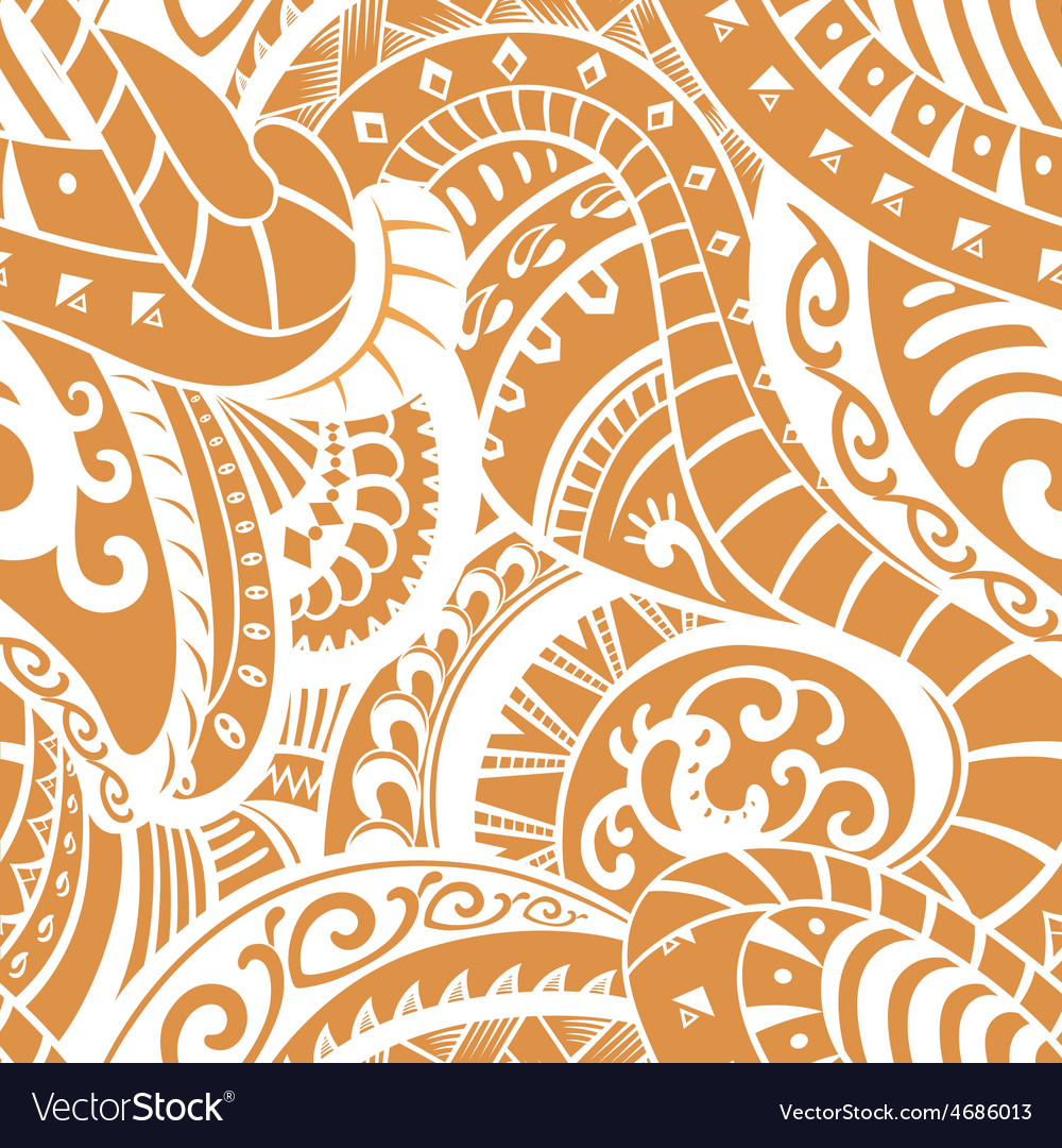 Seamless pattern in polynesian style vector