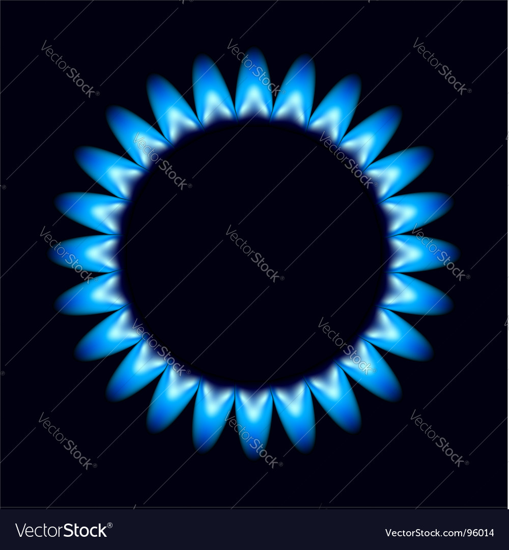 Flames of gas vector