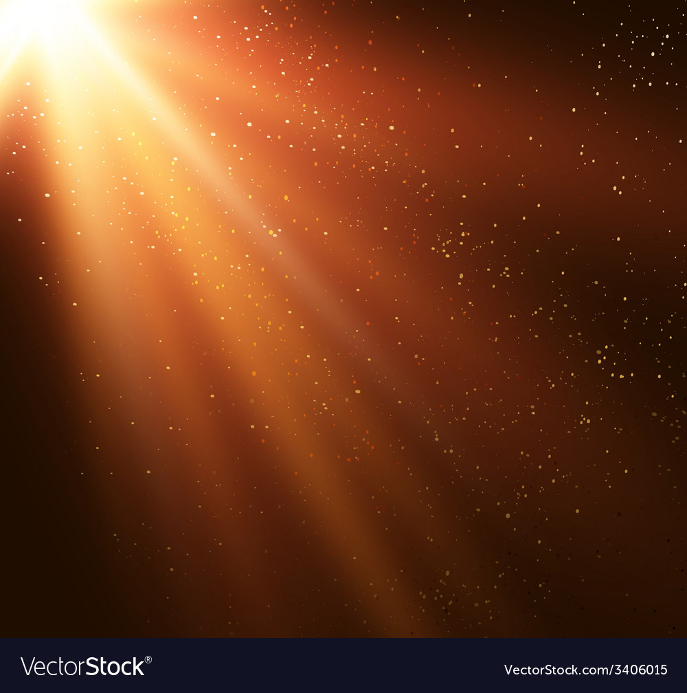 Abstract magic gold light background vector