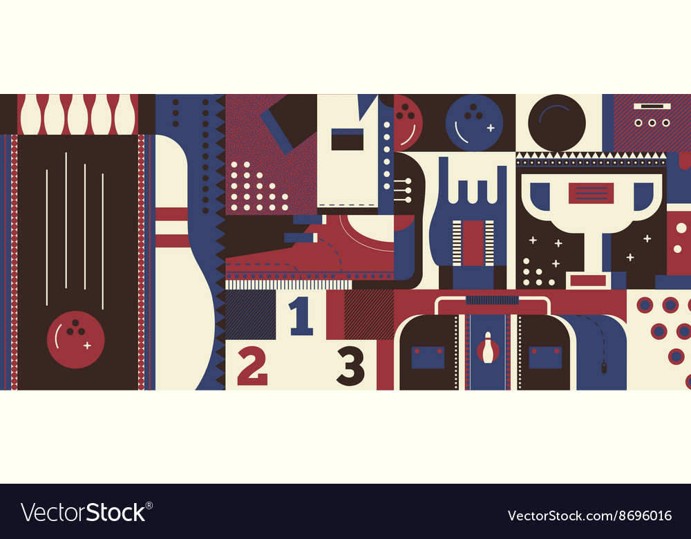 Bowling background concept vector