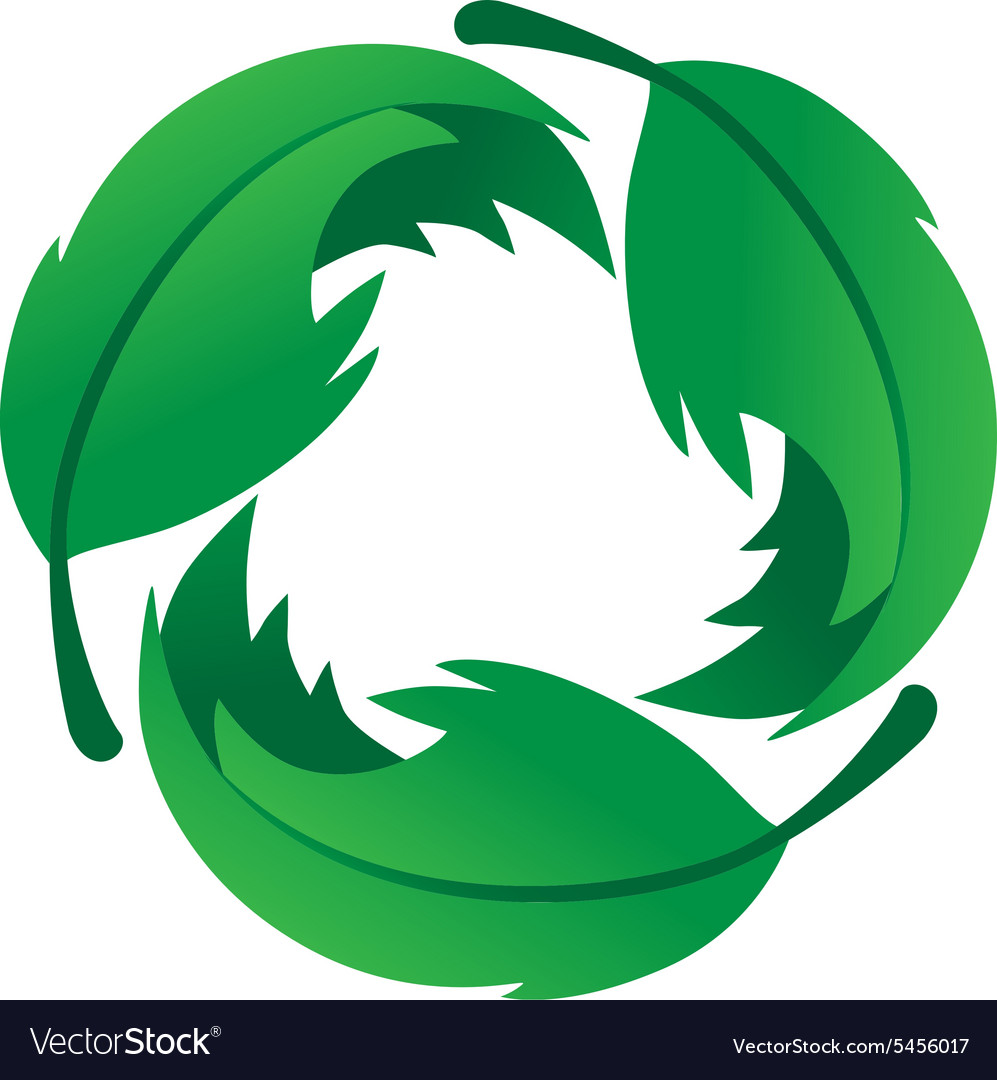 Eco friendly leaf logo vector