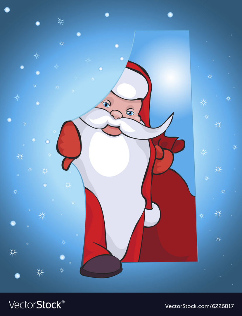This santa comes to your house with beautiful vector
