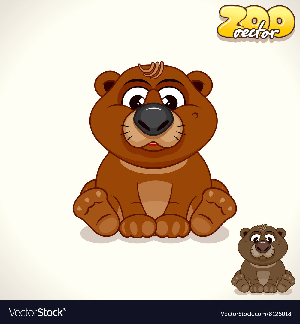 Cartoon bear character vector