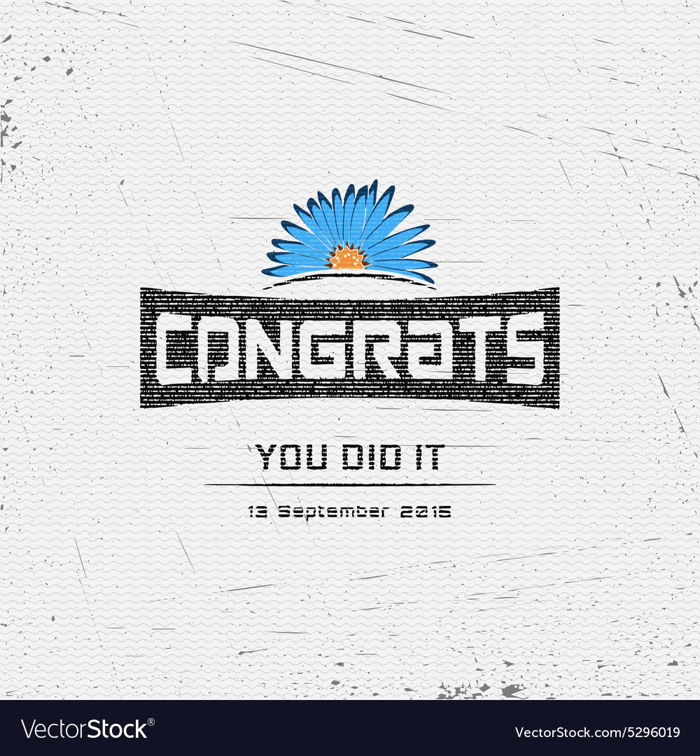 Congratulation badges cards and labels for any use vector