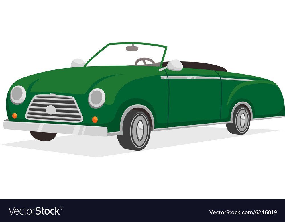 Retro cabriolet vector