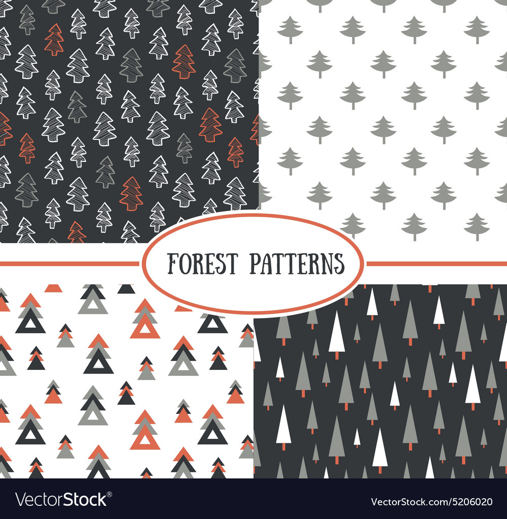 Set of seamless pattern with stylish christmas vector