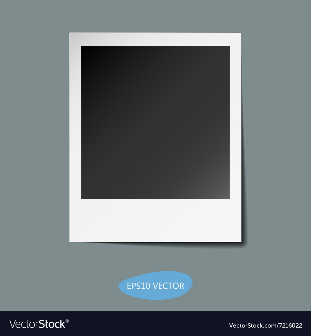Photo frame with shadow vector