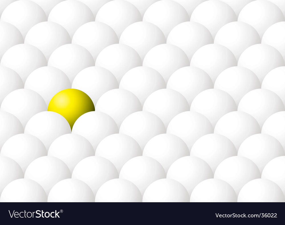 Yellow ball out vector