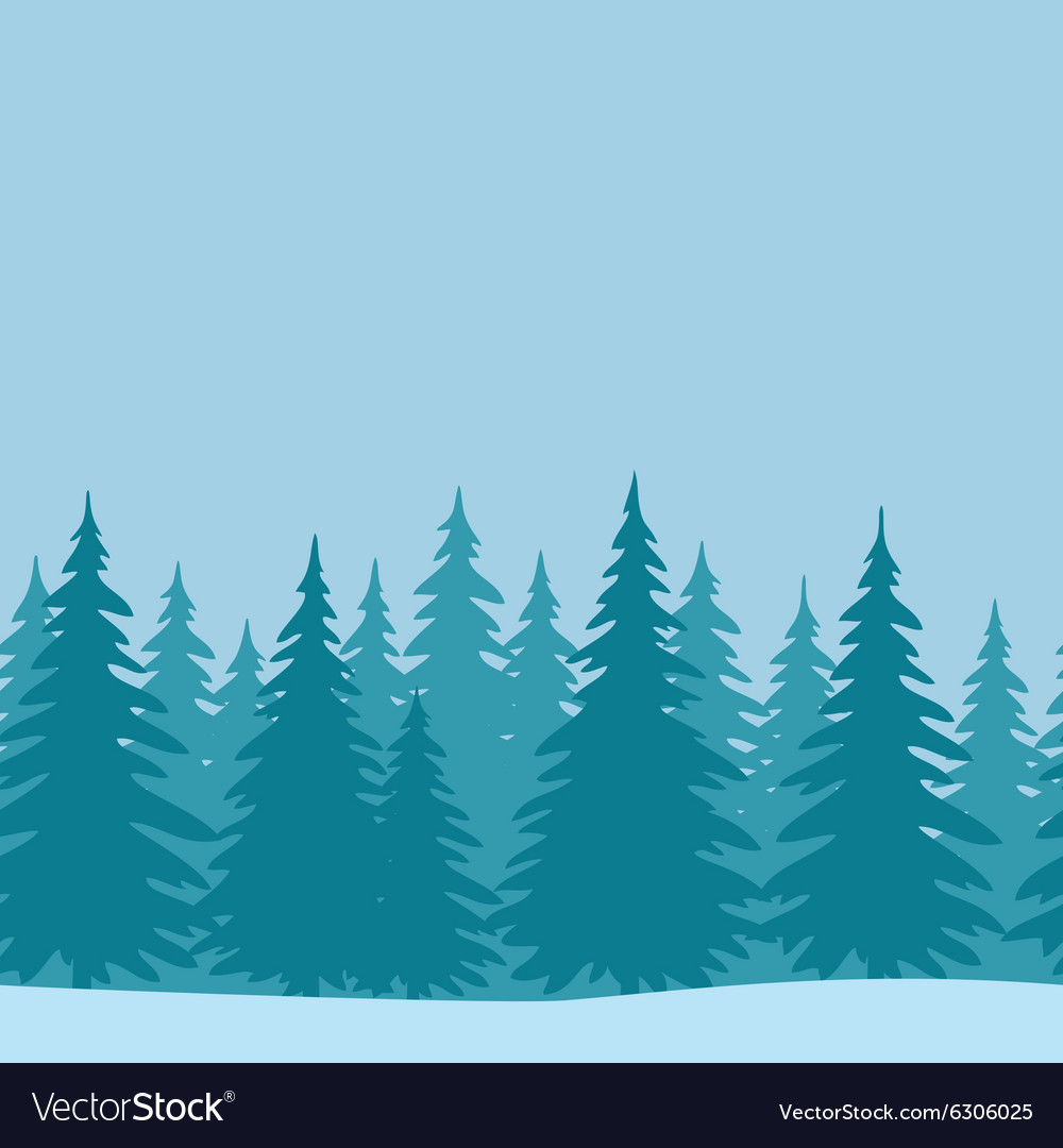 Fir trees seamless landscape vector